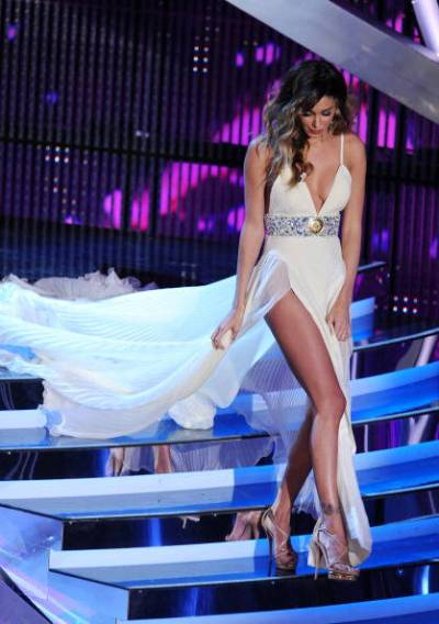 Argentinian model Belen Rodriguez walks