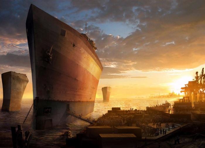 La fatiscente nave a prova di diluvio nel corto d'animazione