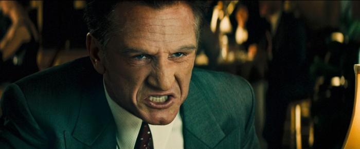 Sean Penn è il feroce e sadico Mickey Cohen in Gangster Squad (2013)