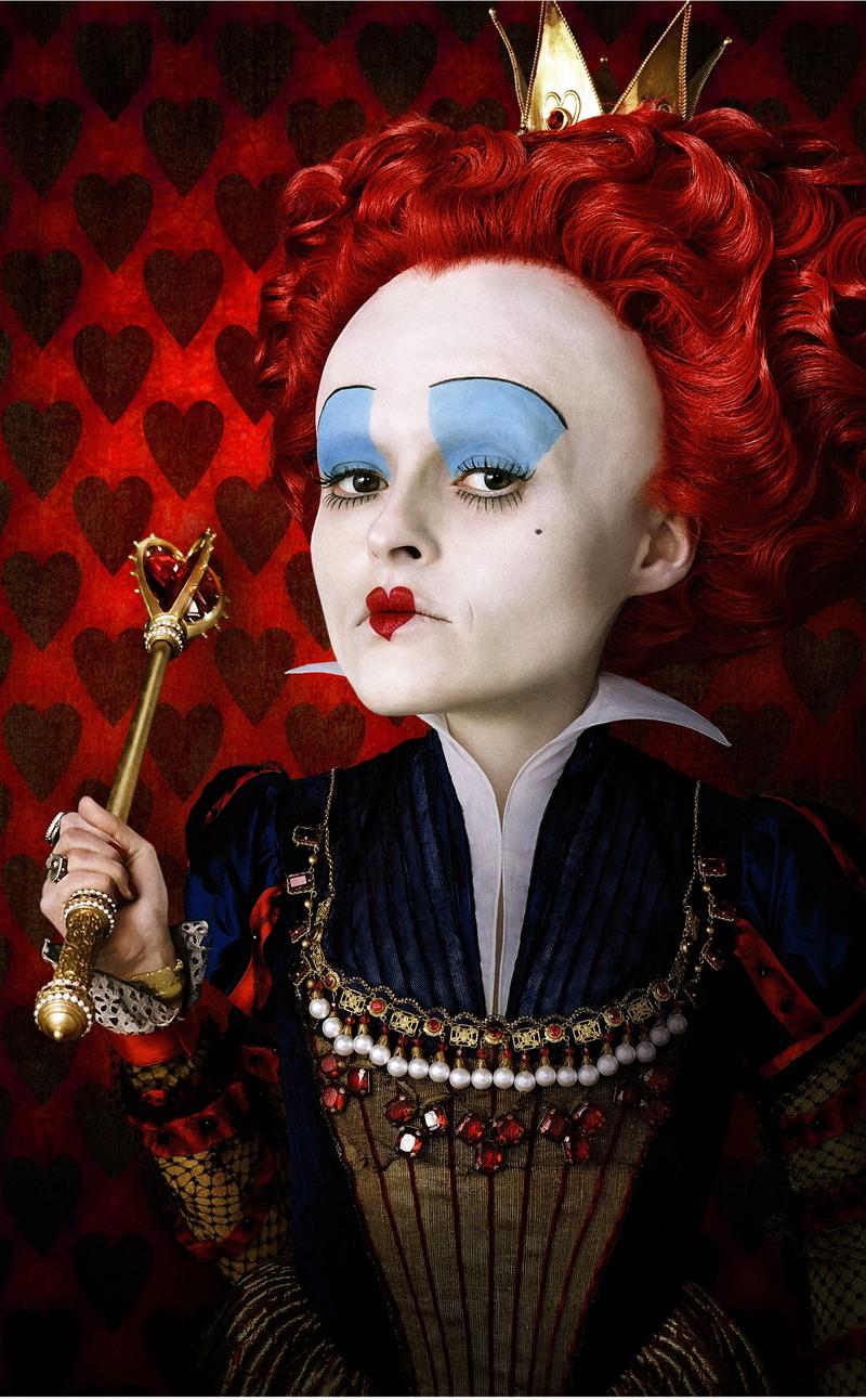 Helena Bonham Carter è la Regina di Cuori in Alice in Wonderland