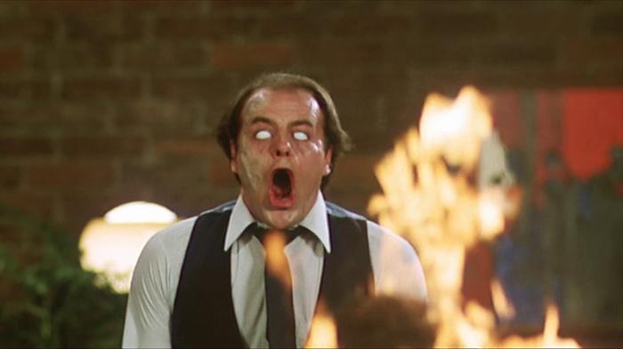 Patrick McGoohan è il Dr. Ruth: L'incendiario capo degli Scanners, analizzatori dal quoziente telepatico con effetti genetici devastanti  (1981).