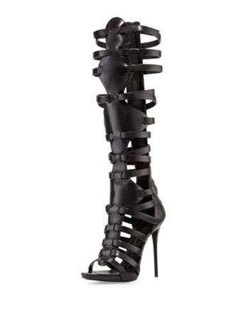 Giuseppe ZanottiHigh-Heel Caged Knee Sandal