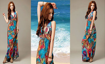 Donna Terre Straniere Colorful Beach Dress su lightinthebox.com € 98.99