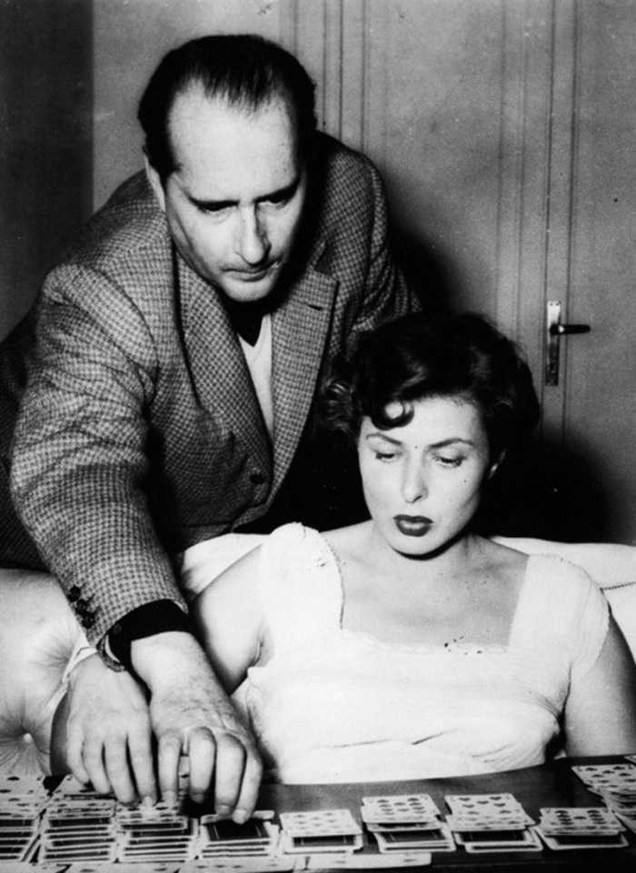 La diva Ingrid Bergman e il cineasta Roberto Rossellini.