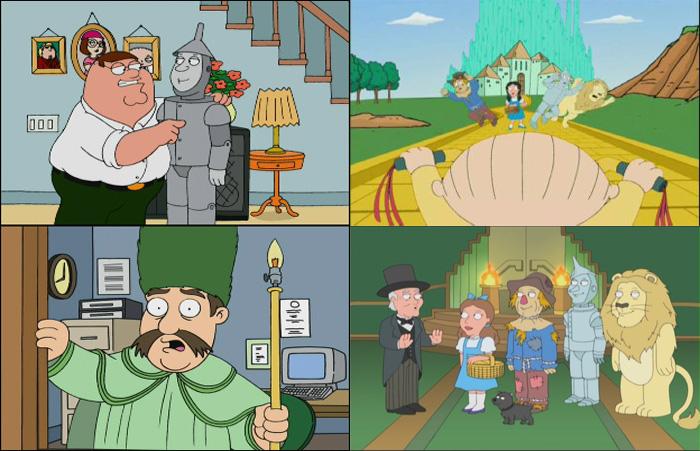 I Griffin (i personaggi de Il Mago di Oz fanno capolino in più episodi)