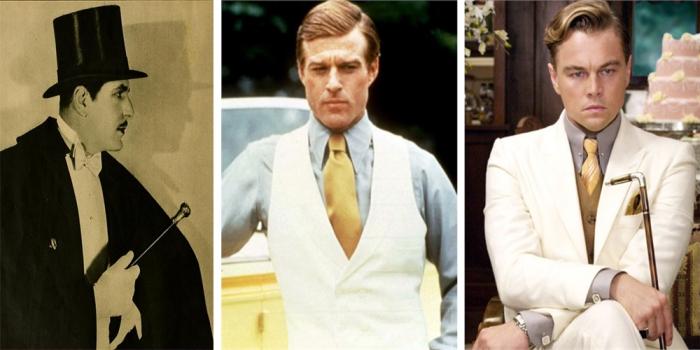 Il magnetico milionario Jay Gatsby: Warner Baxter nel1926; Robert Redford nel 1974 e Leonardo DiCaprio nel 2013.