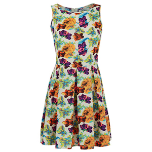 Madam Rage Women's Bright Floral Skater Dress €15.25 su thehut.com