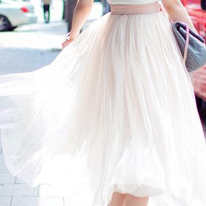chuu Elasticized Tulle Maxi Skirt €35.76 su yesstyle.com
