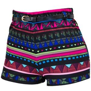 Belted Aztec Print High Waist Short €11 su bodycentral.com