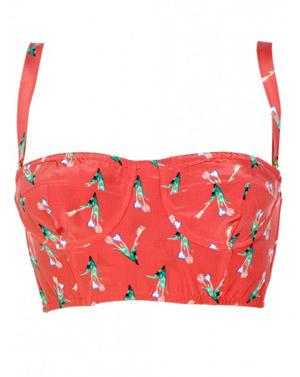 Floral Bustier Top $90.00 su shoplesnouvelles.com