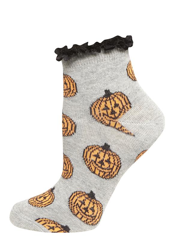 Dorothy Perkins Grey Pumpkin Print Socks  €3,80 su dorothyperkins.com