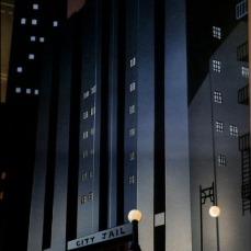La Gotham di grigie geometrie in Batman: The Animated Series (1992-1995)