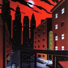 La Gotham dalle linee retrò nel sequel Batman – Cavaliere della notte (1997-1999)