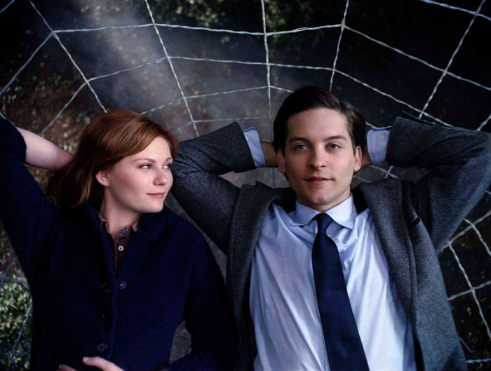 Kirsten Dunst e Tobey Maguire in Spider-Man (2002)