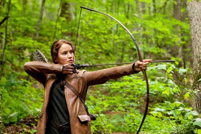 Jennifer Lawrence è Katniss Everdeen nella saga di Hunger Games (2012)