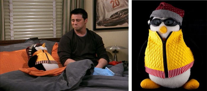 Hugsy il peluche di Joey in Friends
