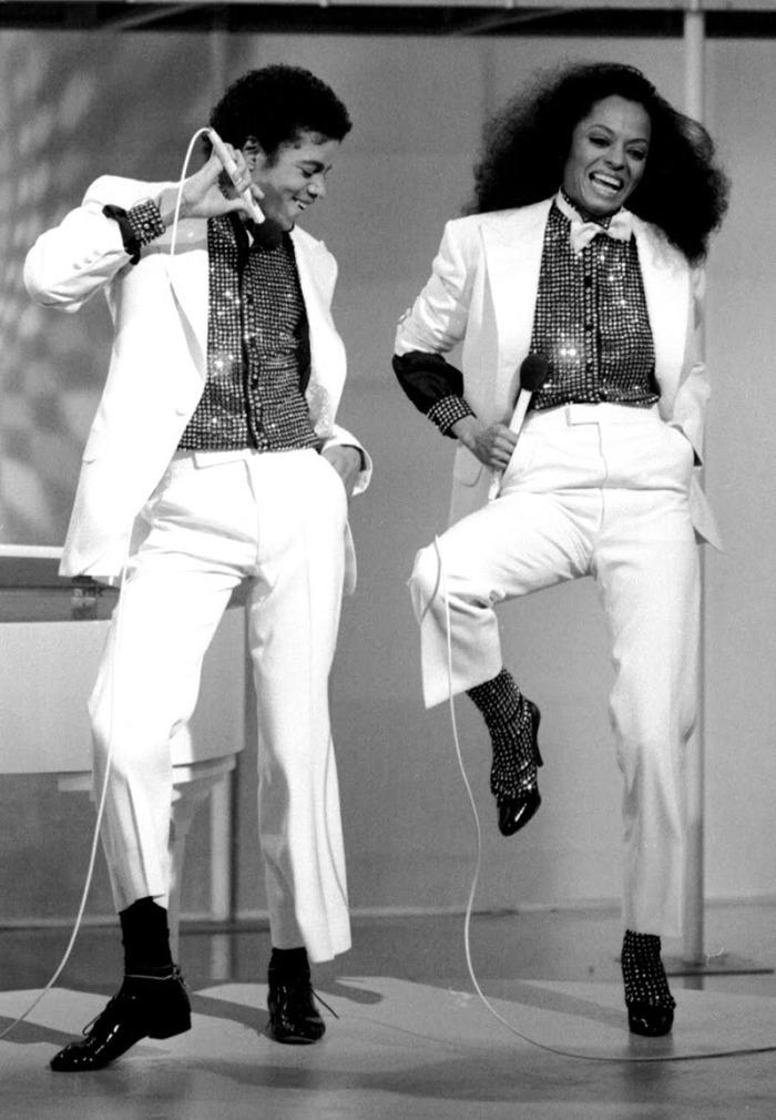 con Diana Ross duetta come un luccicante Spaventapasseri in Ease on Down the Road nello special show dedicato alla diva (1981)