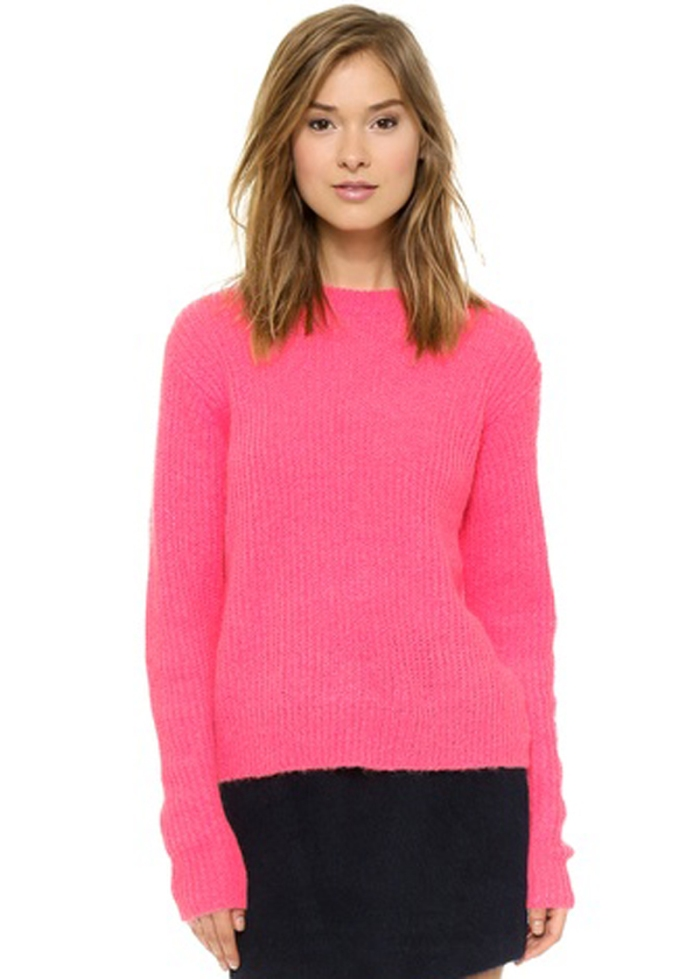 T by Alexander Wang Mohair Crew Neck Pullover $295.00