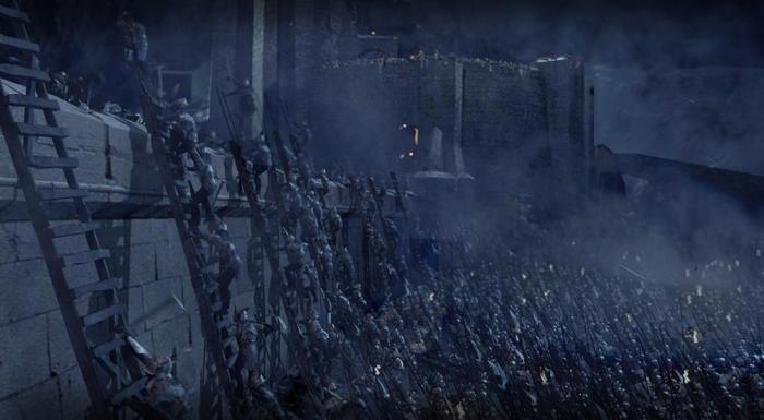La battaglia del Fosso di Helm ne Il Signore degli Anelli - Le due Torri (2002)