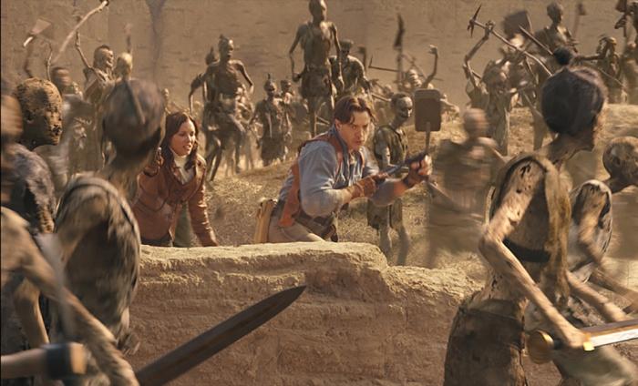 La battaglia della Grande Muraglia Cinese contro l'esercito di terracotta ne La mummia - La tomba dell'Imperatore Dragone (2008)