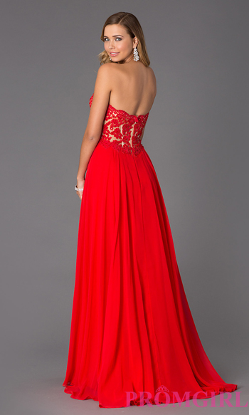 Strapless Sweetheart Floor Length Gown $ 398.00 su promgirl.com