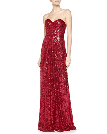 La Femme Strapless Sequin Open-Back Gown  €160 su lastcall.com