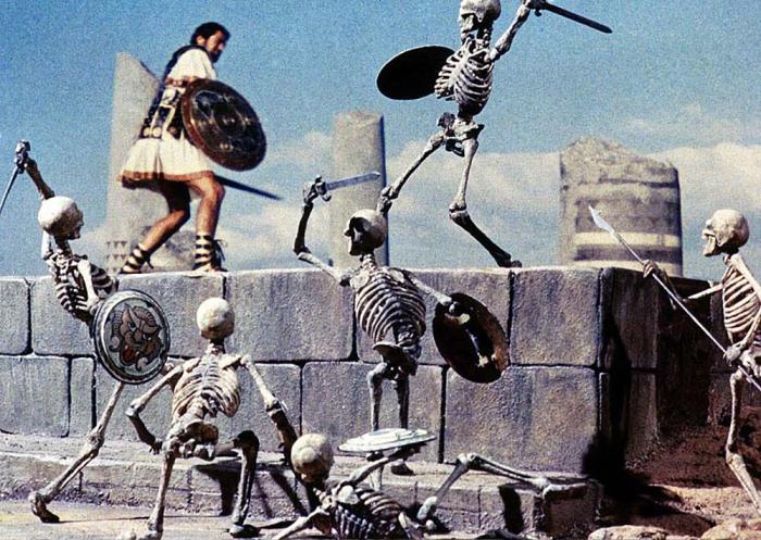 La battaglia degli scheletri ne Gli Argonauti (1963)