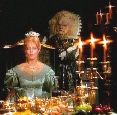 """Susan Sarandon and Klaus Kinski take the title roles in """"Beauty and the Beast,"""" an episode of """"Shelley Duvall's Faerie Tale Theatre."""""""