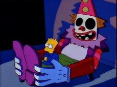 Il clown-bed di Bart Simpson nei I Simpson (1989)