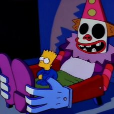 Il clown-bed di Bart Simpson nei I Simpson (1989)