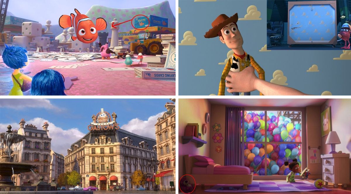 15 Easter Eggs nascosti nei cartoon Pixar