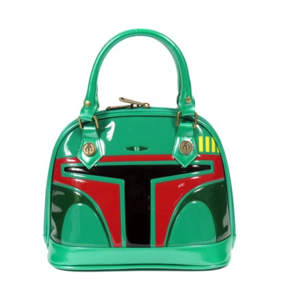 Green Patent Star Wars Boba Fett Dome Bag $68.00 su unique-vintage.com