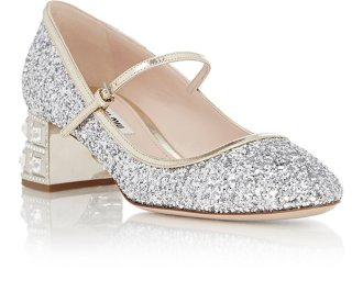 Miu Miu Glitter Mary Jane Pumps EUR €876.57 su saksfifthavenue.com