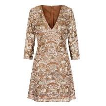 V-neck mini dress, £130 su oasis-stores.com
