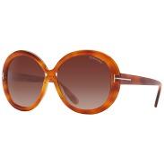 TOM FORD FT0388 Gisella Oval Sunglasses, Tortoise £224.00 su johnlewis.com