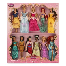 Set regalo bambole da collezione Principesse Disney 28 cm 160,00 € su disneystore.it