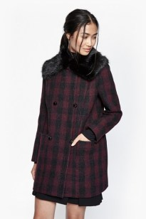Highland Wool & Faux Fur Coat £95.00 su frenchconnection.com
