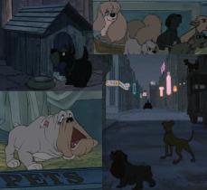 10- Nel film compaiono i cani di Lilli e il Vagabondo (1955): Whisky, la pechinese Gilda, il mastino Toughy, Lilli e Biagio.