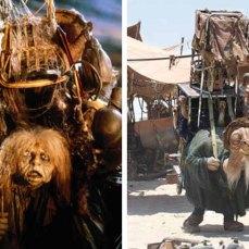 18- Una delle creature che compaiono nello Star Wars 7 di J. J. Abrams è un, autentico, plagio della vecchietta con la schiena ricoperta di cianfrusaglie di Labyrinth cui produttore esecutivo è, proprio, George Lucas.