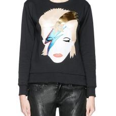 David Bowie appliqué sweatshirt 230 € su lanecrawford.com