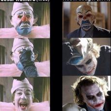 Christopher Nolan ne Il Cavaliere Oscuro omaggia il Joker di Romero quando, debuttando in scena, Heath Ledger indossa una maschera identica al trucco di Romero nella sua prima apparizione nella serie tv.