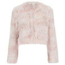 REDValentino Women's Cropped Faux Fur Jacket – Nudo €239.86 su coggles.com