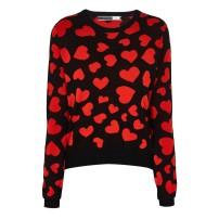 Sportmax Code - Black Girone Heart Sweater €200 su graziashop.com