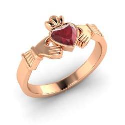 Diamondere Heart-Cut Ruby 14k Rose Gold Solitaire Ring €995 su diamondere.com
