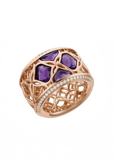 Chopard Anello IMPERIALE Lace oro rosa 18 carati, ametiste e diamanti € 7.400