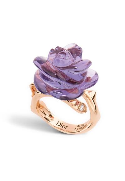 Dior - Anello rose Dior pré catelan modello piccolo, oro rosa 750/1000 e ametista 4.800,00 €