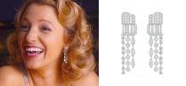 La fashionista Blaken Lively abbaglia in orecchini di diamanti Chanel Café Society Symphony.