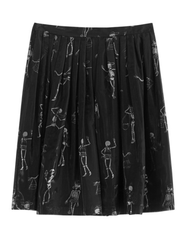 MOSCHINO Carcase Black // Pleated skirt with prints €699 jades24.com