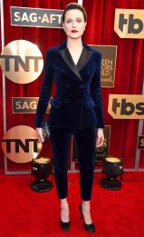 Evan Rachel Wood in Altuzarra, scarpe Salvatore Ferragamo e gioielli Tiffany & Co