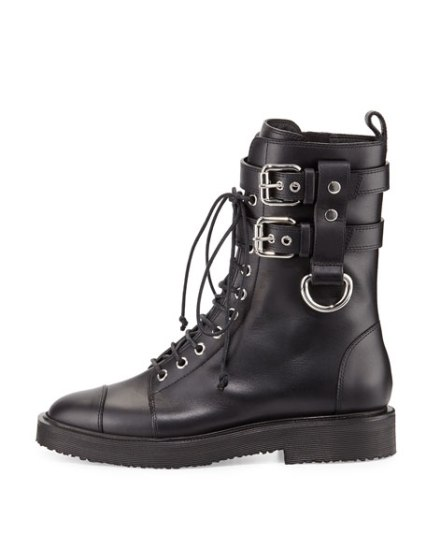 Giuseppe Zanotti Leather Combat Boots €1.165 stylebop.com